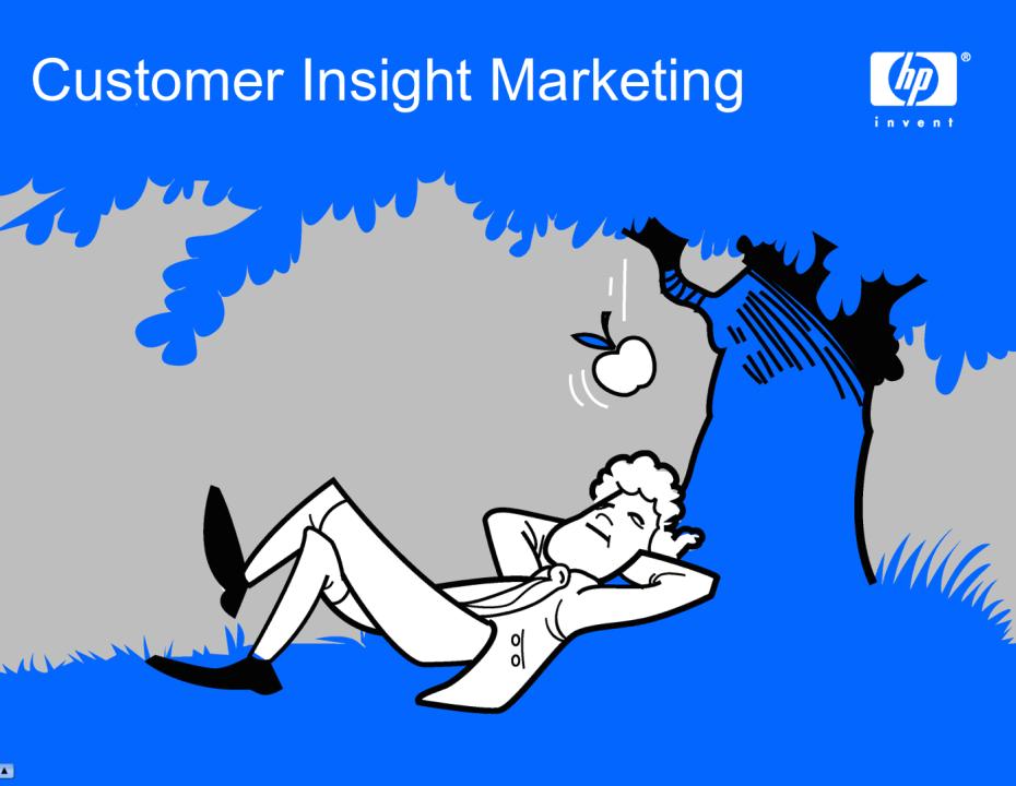 Hewlett Packard Customer Insight Marketing