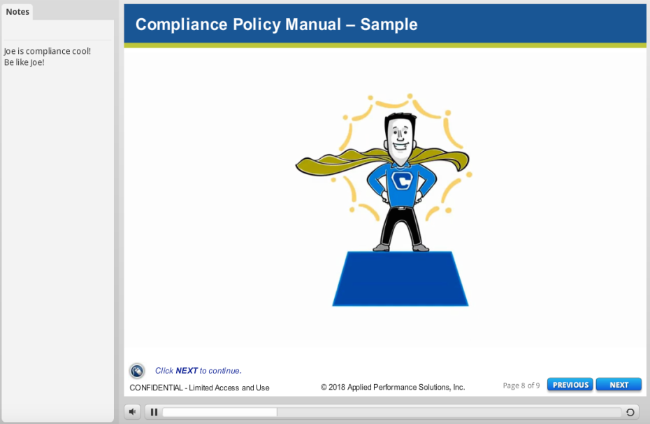 Compliance Manual Elearning